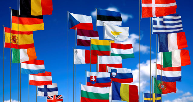 The National European flags in 2007